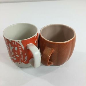 Lot 2- Starbucks Coffee Mug 2006 Orange Halloween